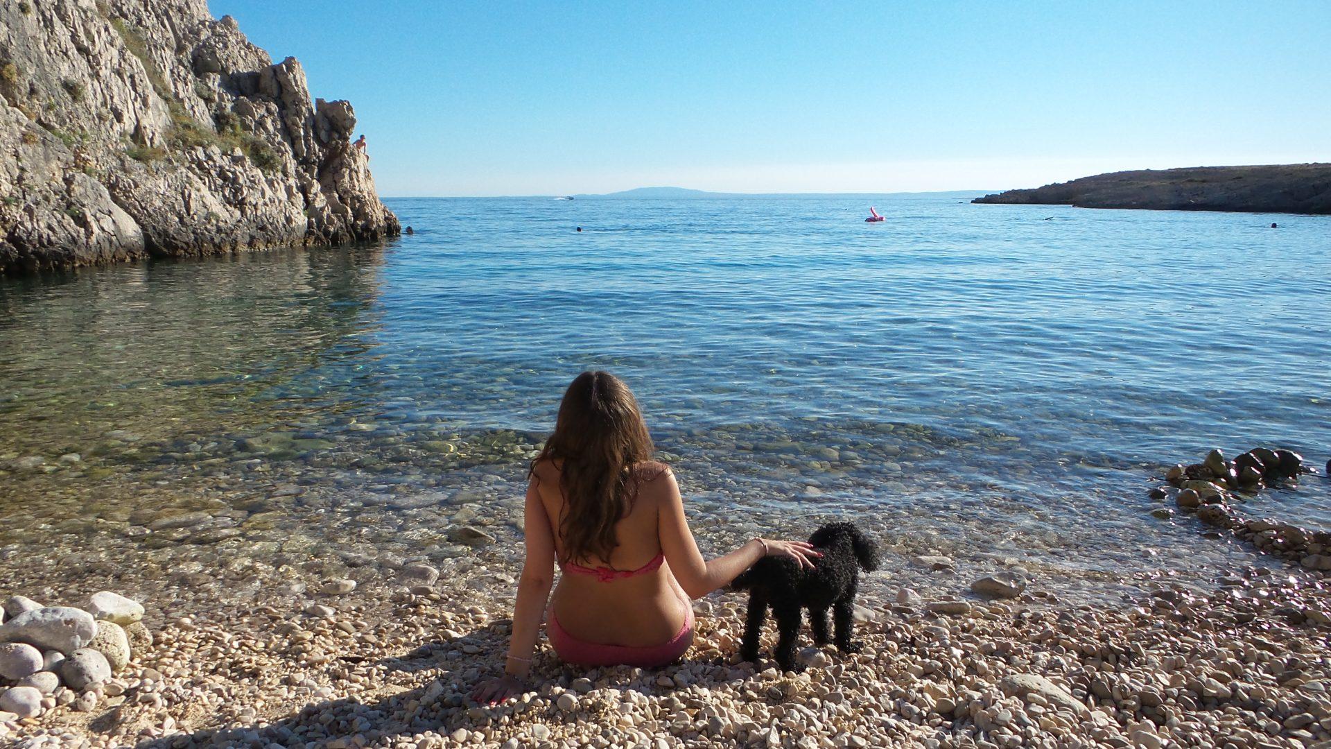 La spiaggia per cani di Stara Baska