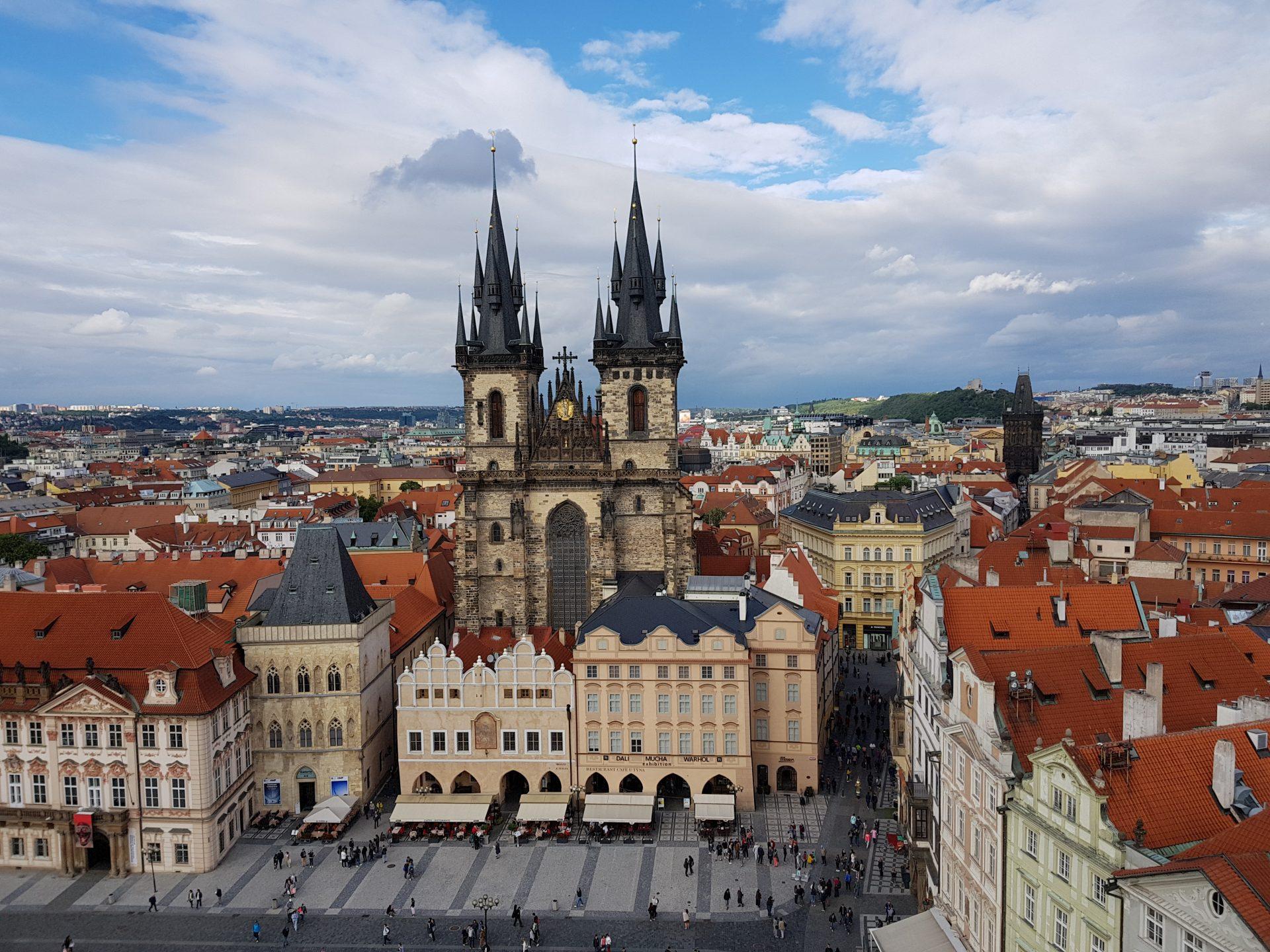 La vista dalla torre del municipio